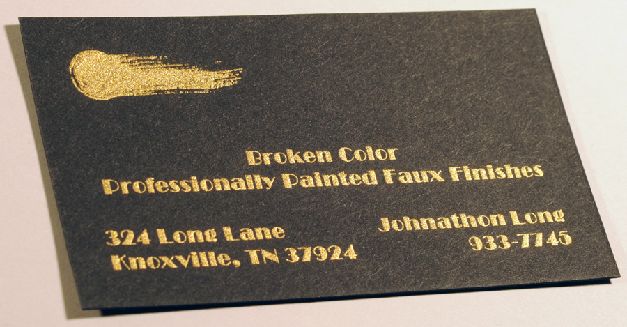 Business cards brokencolorbusinesscardengravedgoldink smittyssurgicalbusinesscardthermography kcadbusinesscardthermography sugarbuzzbusinesscardthermographylinen colourmoves