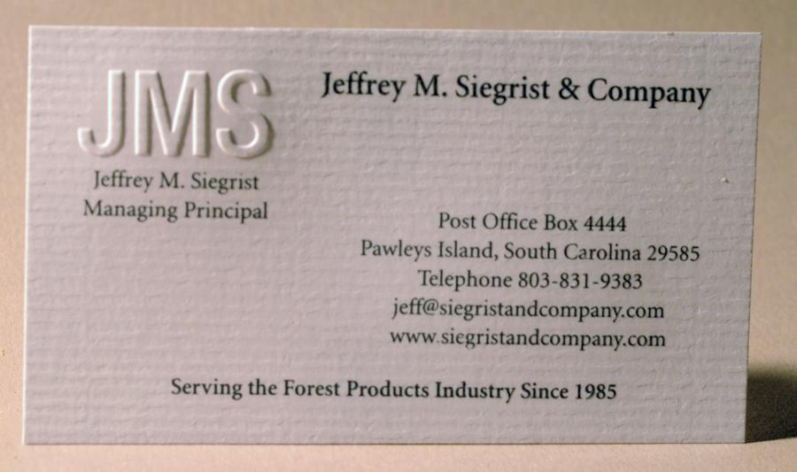 Business cards jmsbusinesscardblindembossengraved lethcobusinesscardengravedwhiteink blackberryfarmbusinesscardfrontengraved colourmoves